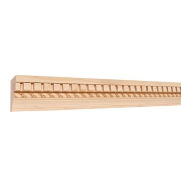 Legacy Heritage 2 1/4 Inch Flat Back Crown Molding with Embossed Rope