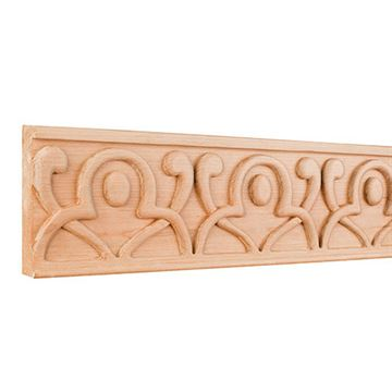 Legacy Heritage 4 Inch Hand Carved Geometric Frieze Molding