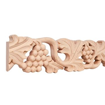 Legacy Heritage 4 Inch Hand Carved Grape Flat Molding
