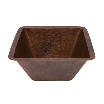 Premier Copper LSQ15DB 15 Inch Square Under Counter Copper Lavatory Sink