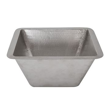 Premier Copper 15 Inch Square Under Counter Nickel Lavatory Sink