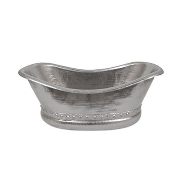 Premier Copper Bath Tub Hammered Nickel Vessel Sink