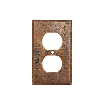 Premier Copper Duplex Switchplate