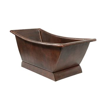Premier Copper Hammered Copper Canoa Single Slipper Bath Tub