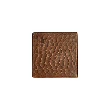 Premier Copper Hammered Copper Square Tile - Pack of 4