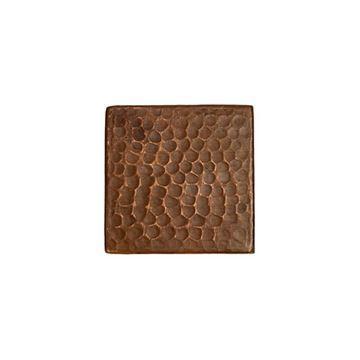 Premier Copper Hammered Copper Square Tile - Pack of 4