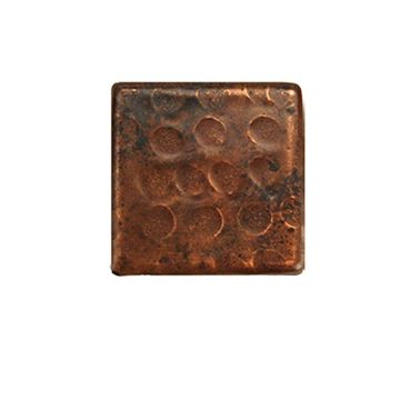 Premier Copper Hammered Copper Square Tile - Pack of 8