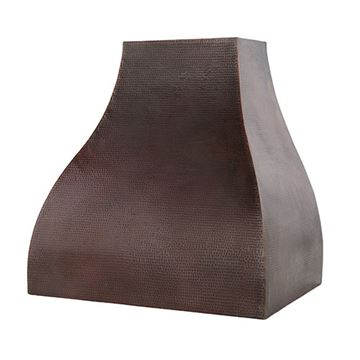 Premier Copper Hand Hammered Wall Mounted Campana Baffle Filter Range Hood