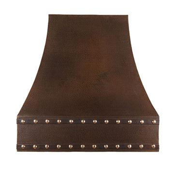 Premier Copper Hand Hammered Wall Mounted Correa Screen Filter Range Hood