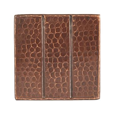 Premier Copper Linear Hammered Copper Square Tile