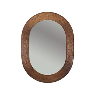 Premier Copper Plain Oval Hammered Copper Mirror