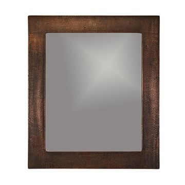 Premier Copper Plain Rectangle Hammered Copper Mirror