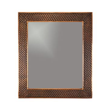 Premier Copper MFREC3631-BR Rectangle Braid Hammered Copper Mirror