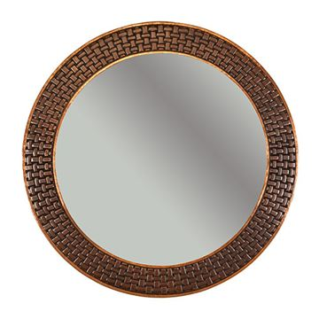 Premier Copper Round Braid Hammered Copper Mirror