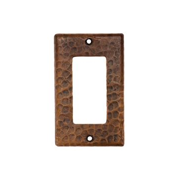 Premier Copper Single GFI Rocker Switchplate