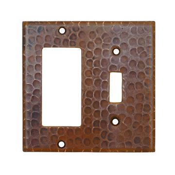 Premier Copper Single Toggle With Rocker Switchplate