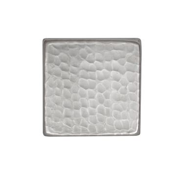 Premier Copper Square Hammered Nickel Plated Tile