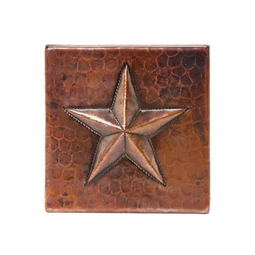 Premier Copper Star Hammered Copper Square Tile