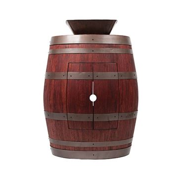 Premier Copper Wine Barrel Vanity & 14 Inch Square Vessel Sink Package