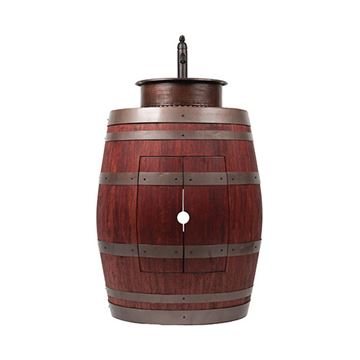 Premier Copper Wine Barrel Vanity & 15 Inch Round Vessel Tub Sink Package With Faucet