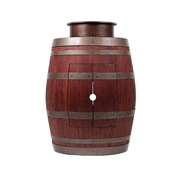 Premier Copper Wine Barrel Vanity & 15 Inch Round Vessel Tub Sink package