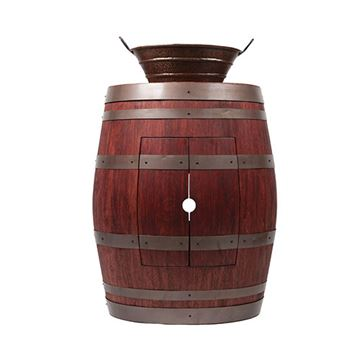 Premier Copper Wine Barrel Vanity & 16 Inch Oval Bucket Vessel Sink Package