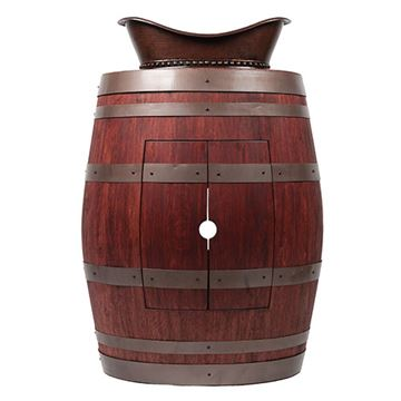 Premier Copper Wine Barrel Vanity & Bath Tub Vessel Sink Package