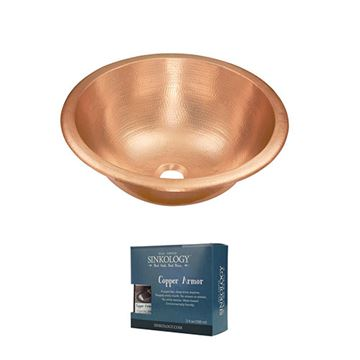Sinkology Born Dual Mount Unfinished Copper Bathroom Sink Kit