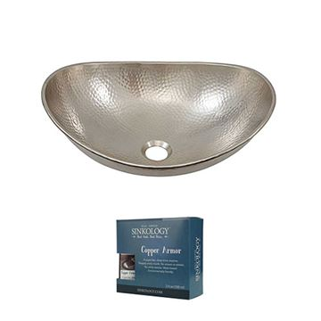 Sinkology Hobbes 19 Inch Nickel Vessel Sink Kit