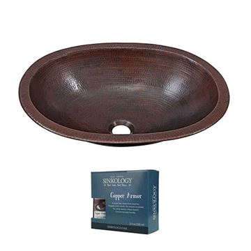 Sinkology Wallace 19 Inch Dual Mount Copper Bathroom Sink Kit