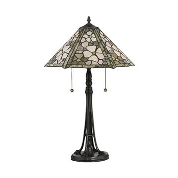 Quoizel Jd2077tvb Flower Field Jade Table Lamp - Vintage Bronze