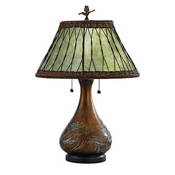 Quoizel Mc120t Highland Mica Table Lamp - Green Mica