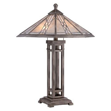 Quoizel Mccs6326as Cyrus Mica Table Lamp - Anniversary Silver