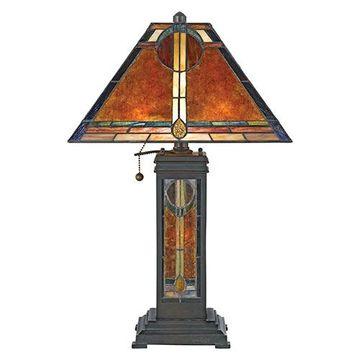 Quoizel Nx615tva San Gabriel Mica Desk Lamp - Valiant Bronze