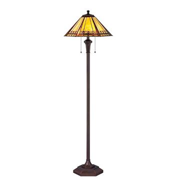 Quoizel Tf1135f Arden Tiffany Glass Floor Lamp - Multicolor