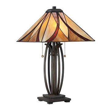 Quoizel Tf1180tva Asheville Tiffany Glass Table Lamp - Valiant Bronze