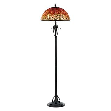 Quoizel Tf135fbc Pomez Agate Floor Lamp - Burnt Cinnamon
