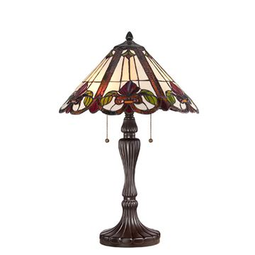 Quoizel Tf1425twt Fields Tiffany Glass Table Lamp - Western Bronze