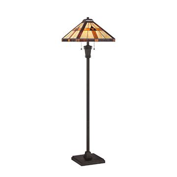 Quoizel Tf1427f Bryant Tiffany Glass Floor Lamp - Multicolor