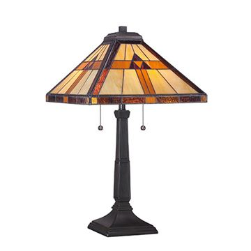 Quoizel Tf1427t Bryant Tiffany Glass Table Lamp - Multicolor