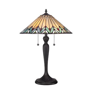 Quoizel Tf1433t Pearson Tiffany Glass Table Lamp - Imperial Bronze
