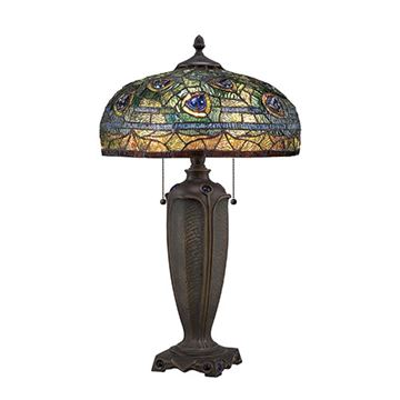 Quoizel Tf1487t Lynch Tiffany Glass Desk Lamp - Multicolor