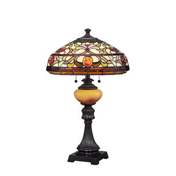 Quoizel Tf1575tib Jewel Tiffany Glass Table Lamp - Imperial Bronze