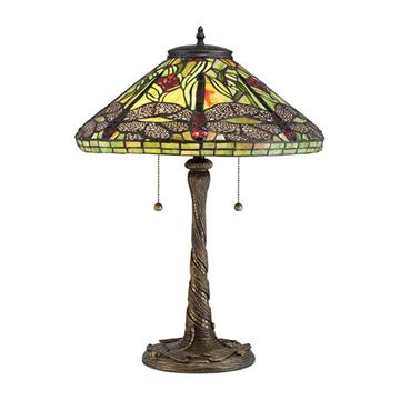 Quoizel Tf2598t Dragonfly Tiffany Table Lamp - Architectural Bronze