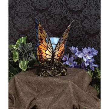 Quoizel TF6599R Butterfly Tiffany Accent Lamp - Architectural Bronze