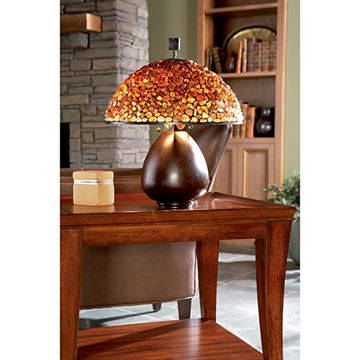 Quoizel Tf6825cn Pomez Agate Table Lamp - Cinnamon