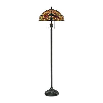 Quoizel Tf878f Kami Tiffany Glass Floor Lamp - Vintage Bronze