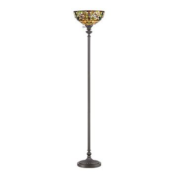 Quoizel Tf878uvb Kami Tiffany Torchiere Floor Lamp - Vintage Bronze