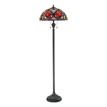 Quoizel Tf879f Larissa Tiffany Glass Floor Lamp - Vintage Bronze