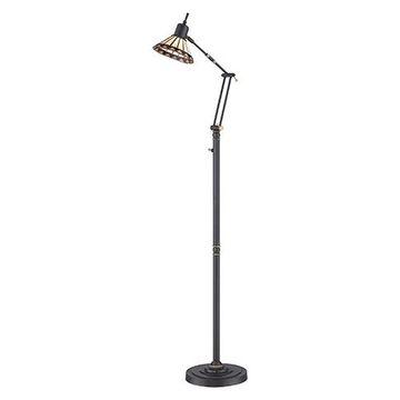 Quoizel Tf9152zled Pueblo Tiffany Floor Task Lamp - Medici Bronze